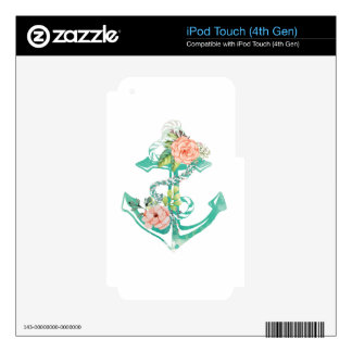 Anchor and Roses Decals For iPod Touch 4G