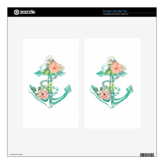 Anchor and Roses Decals For Kindle Fire