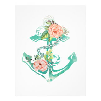 Anchor and Roses Letterhead