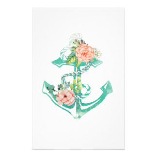 Anchor and Roses Stationery