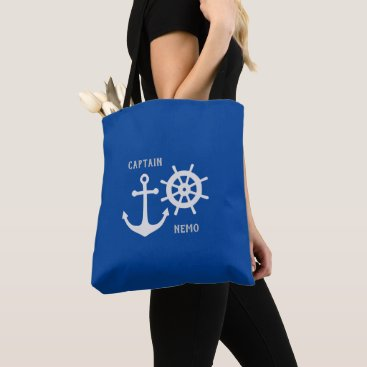 Anchor and Rudder Tote Bag