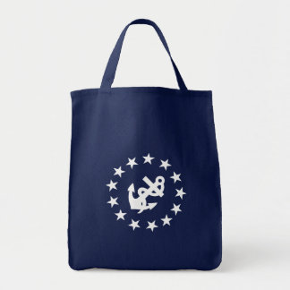 Anchor and Stars Tote Bag