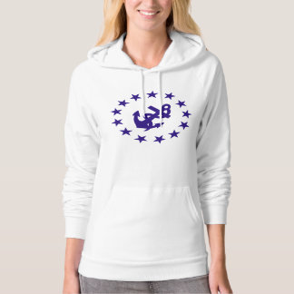 Anchor and Stars Womens Hooded Sweatshirts