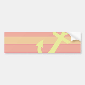 Anchor and Stripes Bumper Sticker