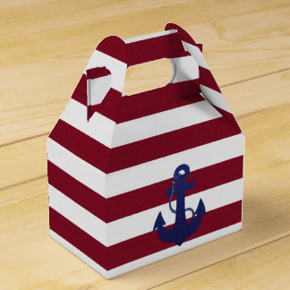 Anchor and stripes favor box