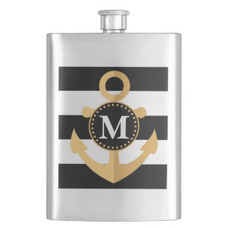 Anchor and Stripes Flask
