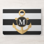 """Anchor and Stripes HP Laptop Skin<br><div class=""""desc"""">Anchor and Stripes</div>"""
