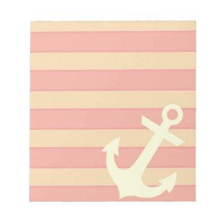 Anchor and Stripes Memo Pad