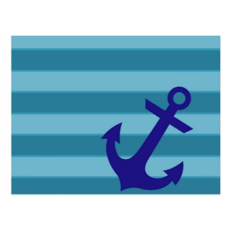 Anchor and Stripes Postcard