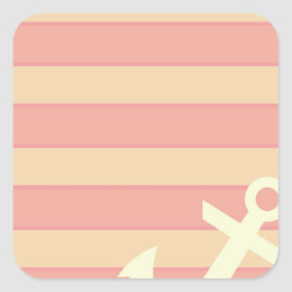 Anchor and Stripes Square Sticker