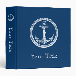 Anchor and Wreath Binder