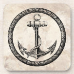 Anchor and Wreath Coaster
