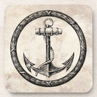 Anchor and Wreath Coaster