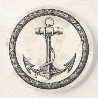 Anchor and Wreath Drink Coaster