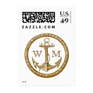 Anchor and Wreath Monogram Stamps