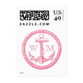 Anchor and Wreath Monogram Stamp