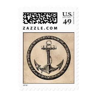 Anchor and Wreath Postage Stamps