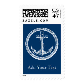 Anchor and Wreath Postage Stamp