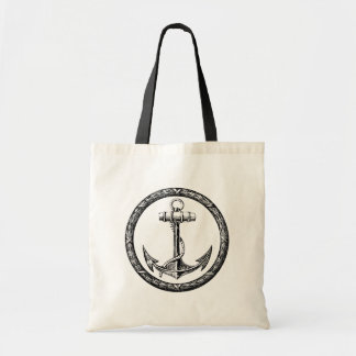 Anchor and Wreath Tote Bag