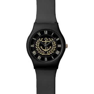 Anchor and Wreath Wrist Watch