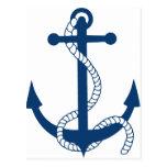 anchor anker ship harbour sailing schiff hafen see tarjeta postal