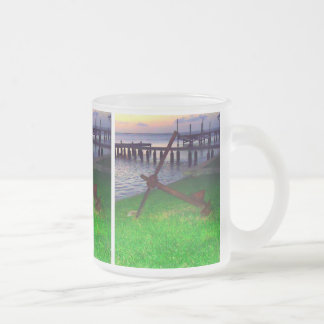 Anchor at Sunset Frosted Glass Coffee Mug