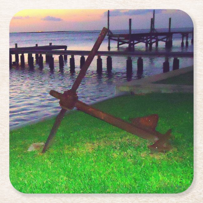 Anchor at Sunset Nautical