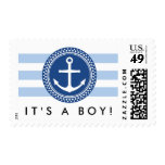 Anchor baby shower new baby boy announcement stamps