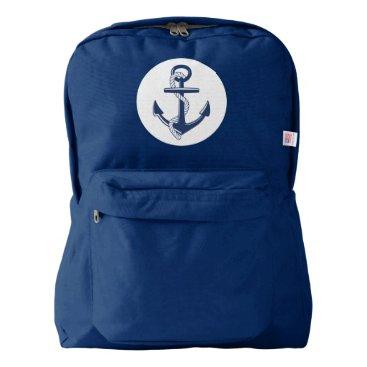Beach Themed Anchor Backpack