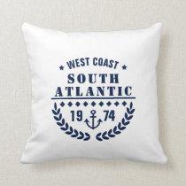 Anchor Badge - Blue and White - Nautical Throw Pillow