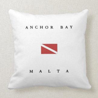 Anchor Bay Malta Scuba Dive Flag Pillows