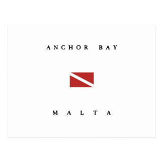 Anchor Bay Malta Scuba Dive Flag Postcard