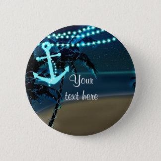 Anchor Beach & Palm Trees Night Light Pin Button