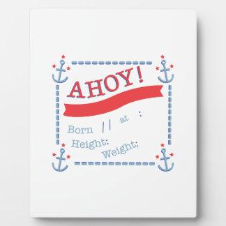 Anchor Birth Announcement Plaque
