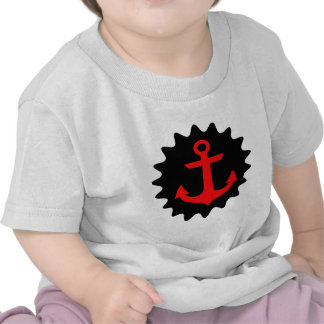 Anchor Black And Red Tee Shirt