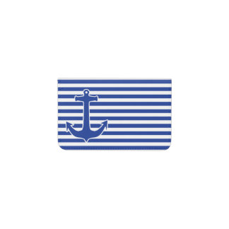 Anchor blue / Contour white + your ideas Business Card Holder
