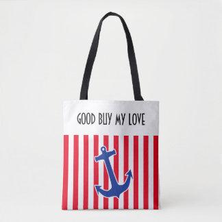 Anchor blue / Contour white + your ideas Tote Bag