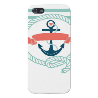 Anchor, blue,red, Nautical retro sailor girly iPhone SE/5/5s Case