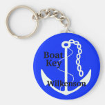 Anchor-Boat Key-Personalize It Basic Round Button Keychain