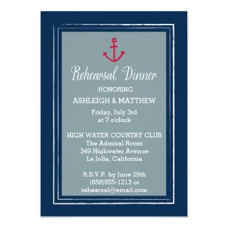 Anchor Border Rehearsal Dinner Invitation
