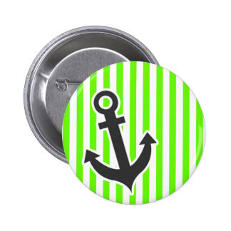 Anchor Bright Green Stripes Striped Buttons