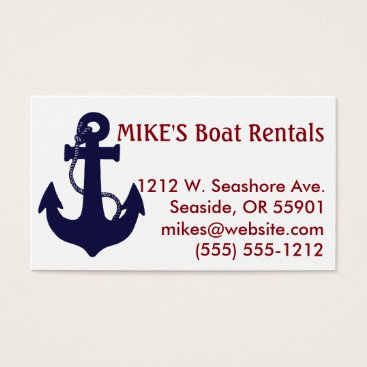 Professional Business Anchor business card