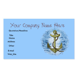 Anchor,business card business card