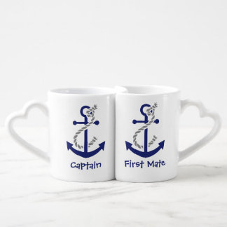 Anchor Captain and First Mate Couples Coffee Mug