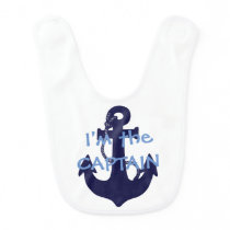 Anchor Captain design baby bib