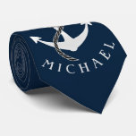 Anchor Captain Tie Custom Color Personalized