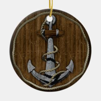 Anchor Ceramic Ornament