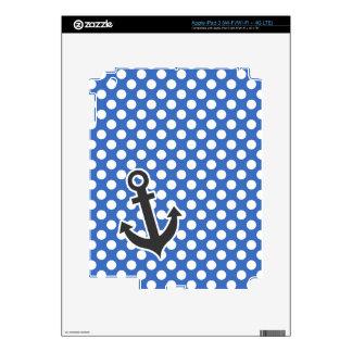 Anchor Cerulean Blue Polka Dots iPad 3 Decals