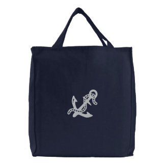 Anchor & Chain D2 Nautical Pirate Navy Coast Guard Canvas Bag