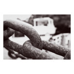 Anchor Chains B/W Poster